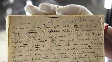 """Die erste Seite des Originalmanuskripts des Romans """"Der Process"""" von Franz Kafka kann man in Marbach in Augenschien nehmen."""