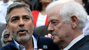 Festnahme bei Protestaktion: Clooney wieder auf freiem Fuß