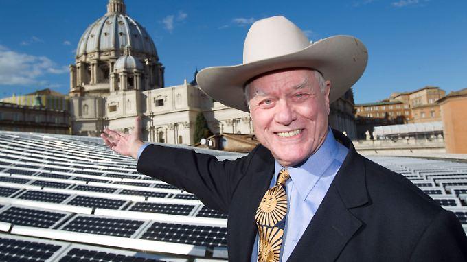 Jetzt heißt es Zähne zeigen: Solarworld-Aushängeschild  Larry Hagman.