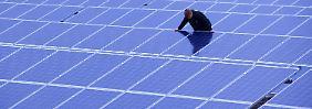 Solarpark bei Rügen - schon ab dem 1. April werden Solaranlagen weniger gefördert.