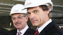 In renommierter Führungspositionen: Volkmar Dennar (r.), hier im Bild mit Franz Fehrenbach.