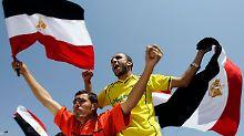 Vor dem Spiel: Ägyptische Fans in Khartum.