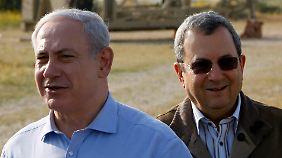Benjamin Netanjahu (l.) und Ehud Barak
