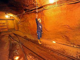 August 2009: Flutung im einstigen Uranbergwerk im sächsischen Königstein. Diese Grube begann 1967 mit der Uran-Förderung.