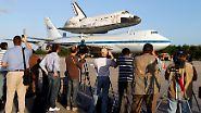 """Wohin die alten Nasa-Fähren fliegen: Die letzte Reise der """"Discovery"""""""