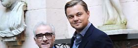 Martin Scorsese (l) und Leonardo DiCaprio (r) wollen wieder einen Film drehen.