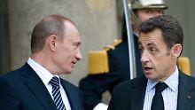 Wladimir Putin und Nicolas Sarkozy