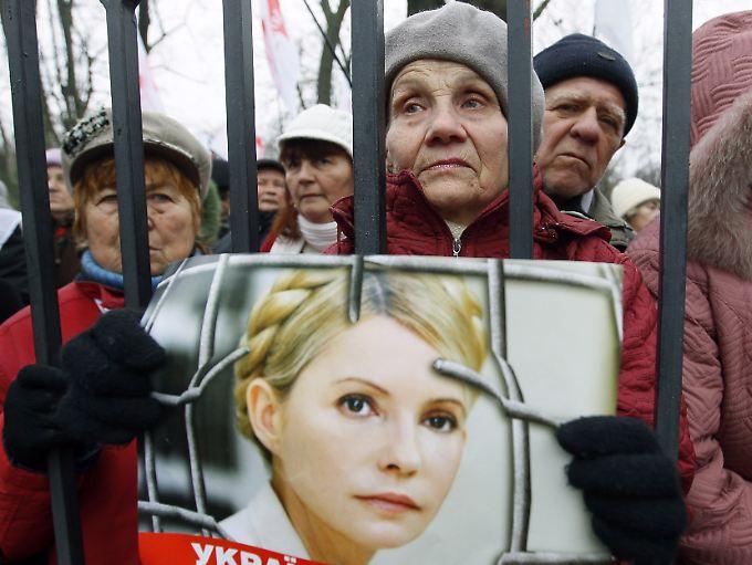 Auch in der Ukraine wird für Julia Timoschenko demonstriert.