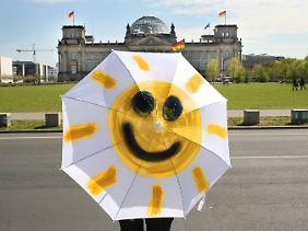 Die Sonne lächelt immer.