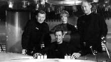 """Wolfgang Völz, Dietmar Schönherr, Eva Pflug und Claus Holm gehörten zur Besatzung der """"Raumpatrouille Orion""""."""