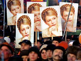 Alle nur bezahlt? Eine Pro-Timoschenko-Demonstration in Kiew.