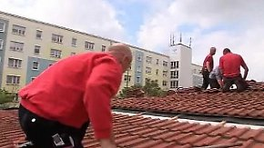 Auftragsboom im deutschen Handwerk: Dachdecker können nicht mitfeiern