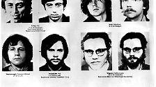 """Baaders """"Generalbevollmächtigte"""" (o re) wird erst nach fünf Jahren aufwändiger Fahndung 1982 gefasst."""