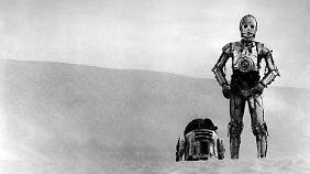 Heimliche Stars: Auch die beiden Roboter C-3PO (r.) und R2-D2 trugen zum Erfolg des Films bei.