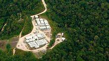 Gasfeld in Papua-Neuguinea.