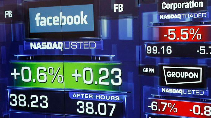 Nur um müde 0,6 Prozent konnte der Aktienkurs von Facebook am ersten Handelstag zulegen.