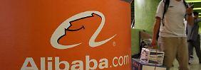 Das Logo der Alibaba Gruppe aufgenommen in Hongkong. Foto: epa/YM
