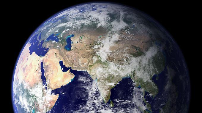 Auf der Erde steigt die Durchschnittstemperatur.