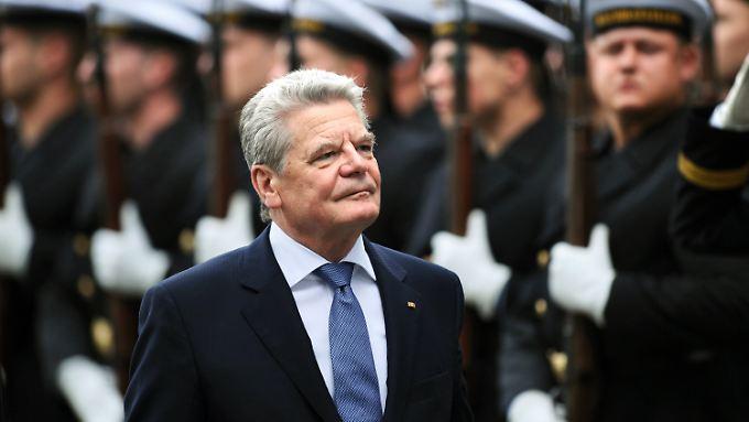Gauck fordert, das Deutschland international mehr Verantwortung übernimmt
