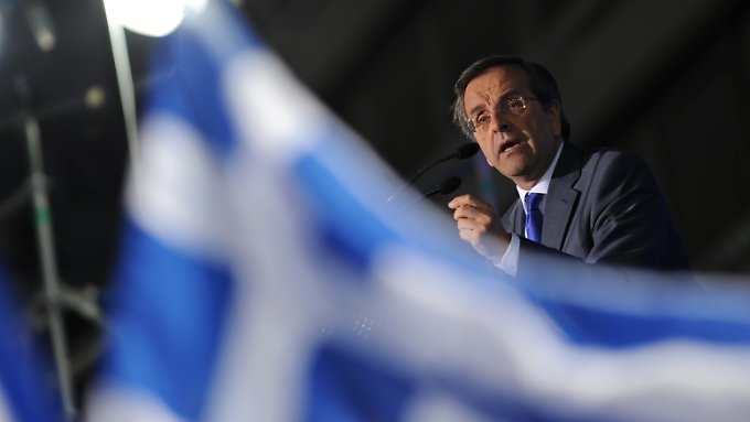 Auch ND-Chef Samaras will bei einem Wahlsieg das Sparpaket mit der EU nachverhandeln.