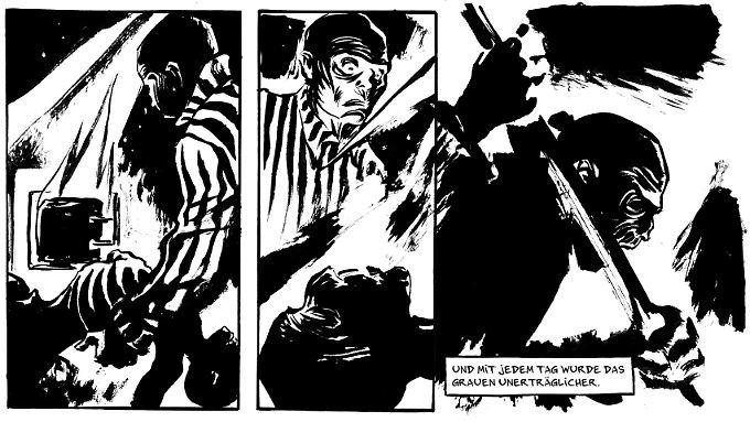 """Ausschnitt aus """"Der Boxer"""": Im Krematorium von Auschwitz muss Hertzko Haft Leichen verbrennen. Die Szenen gehören zu den eindrücklichsten und erschreckendsten des Buches."""