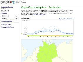 Google Flu Trend wird in den USA professionell eingesetzt.
