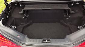 Wenn das Dach geschlossen ist, bietet der Kofferraum ein Volumen von 381 Litern.