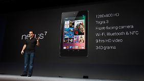 """Tablet soll unterhalten: Google präsentiert """"Nexus 7"""""""