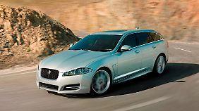 Jaguar kommt mit dem XF Sportbrake um die Ecke.