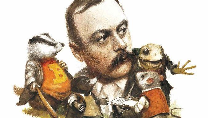 Grahame und seine Figuren, gezeichnet von Robert Ingpen.