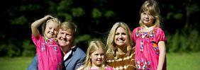 Willem Alexander und seine Mädchen.