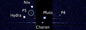 """Schon beim letzten Fund haben die Forscher aufgegeben, den Monden schöne Namen zu geben. Und so heißt der neueste schlicht """"P5""""."""