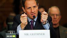 Timothy Geithner weiß, was ihm bei einer Anhörung bevorsteht: Er macht das nicht zum ersten Mal.
