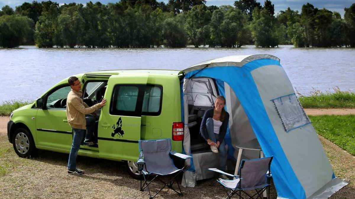 campingzelt vw touran vw touran als camper mit bett. Black Bedroom Furniture Sets. Home Design Ideas