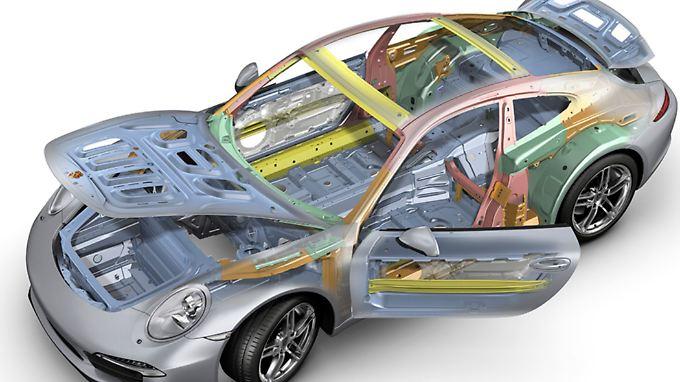 Wo immer es geht, setzt Porsche leichtes Material ein.