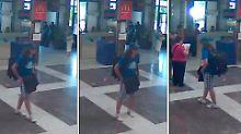 Die Ausschnitte einer Überwachungskamera zeigen den Attentäter als Tourist auf dem Flughafen von Burgas.