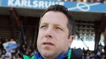 Verfügt über den teuersten Kader der Liga: Markus Kauczinski, Trainer des Karlsruher SC.