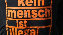 Bei einer Kundgebung vor dem Rathaus in Leipzig.