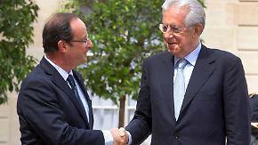 Hollande und Monti sind dafür: Kommt der Rettungsfonds ohne Limit?