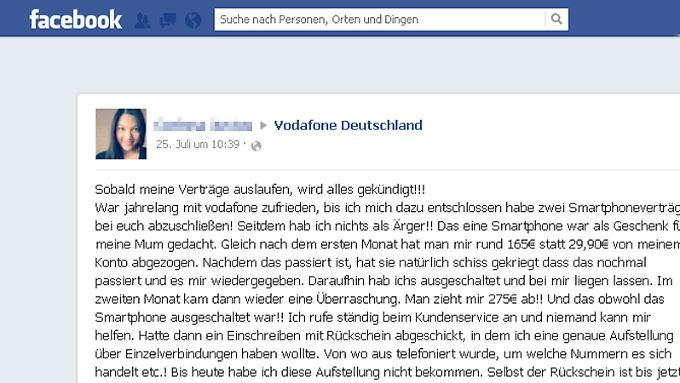 Dieser Beitrag hat auf Vodafone-Facebook-Seite einen Shitstorm ausgelöst.