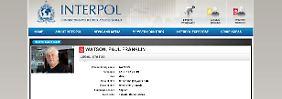Screenshot der Interpol-Seite.