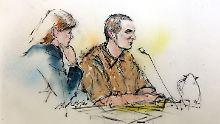 Jared Loughner und seine Verteidigerin Judy Clark im Bundesgericht in Tucson.