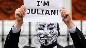 Proteste vor der Botschaft in London.