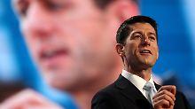 Paul Ryan bei seiner Rede.
