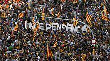 Rufe nach Unabhängigkeit in Barcelona.