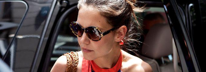 Erst die Tochter zur Schule gebracht, dann ab auf die New Yorker Fashion Week: Katie Holmes hat derzeit viel zu tun.