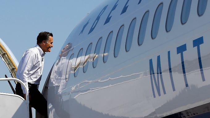 Offenbar genug Sauerstoff zum Einsteigen: Mitt Romney.