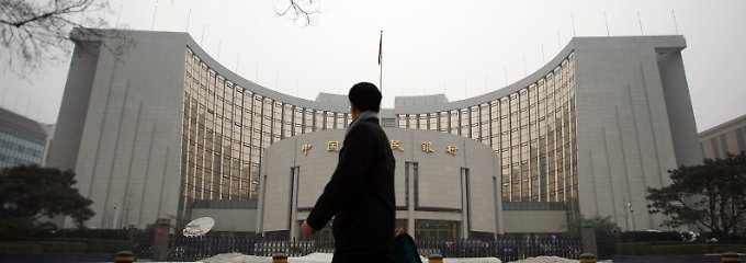 Die People's Bank of China in Peking.