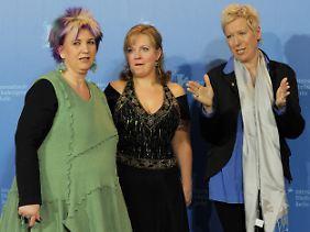 Starkes Trio: Film-Vorbild Kathleen Cieplik, Schauspielerin Gabriela Maria Schmeide und Doris Dörrie (v.l).
