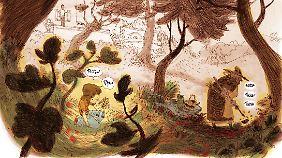 ... die ihn an seine Kindheit und an den Garten seiner Großmutter erinnern.
